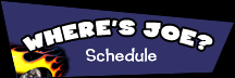 Where's Joe schedule Black logo 216x72px