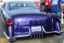Rear of Kaucher's purple dream.